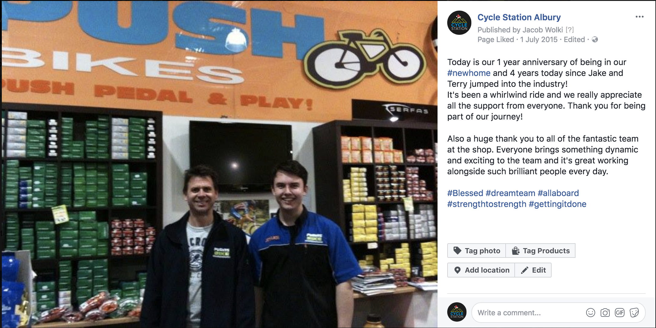 From Pushy's to Cycle Station -