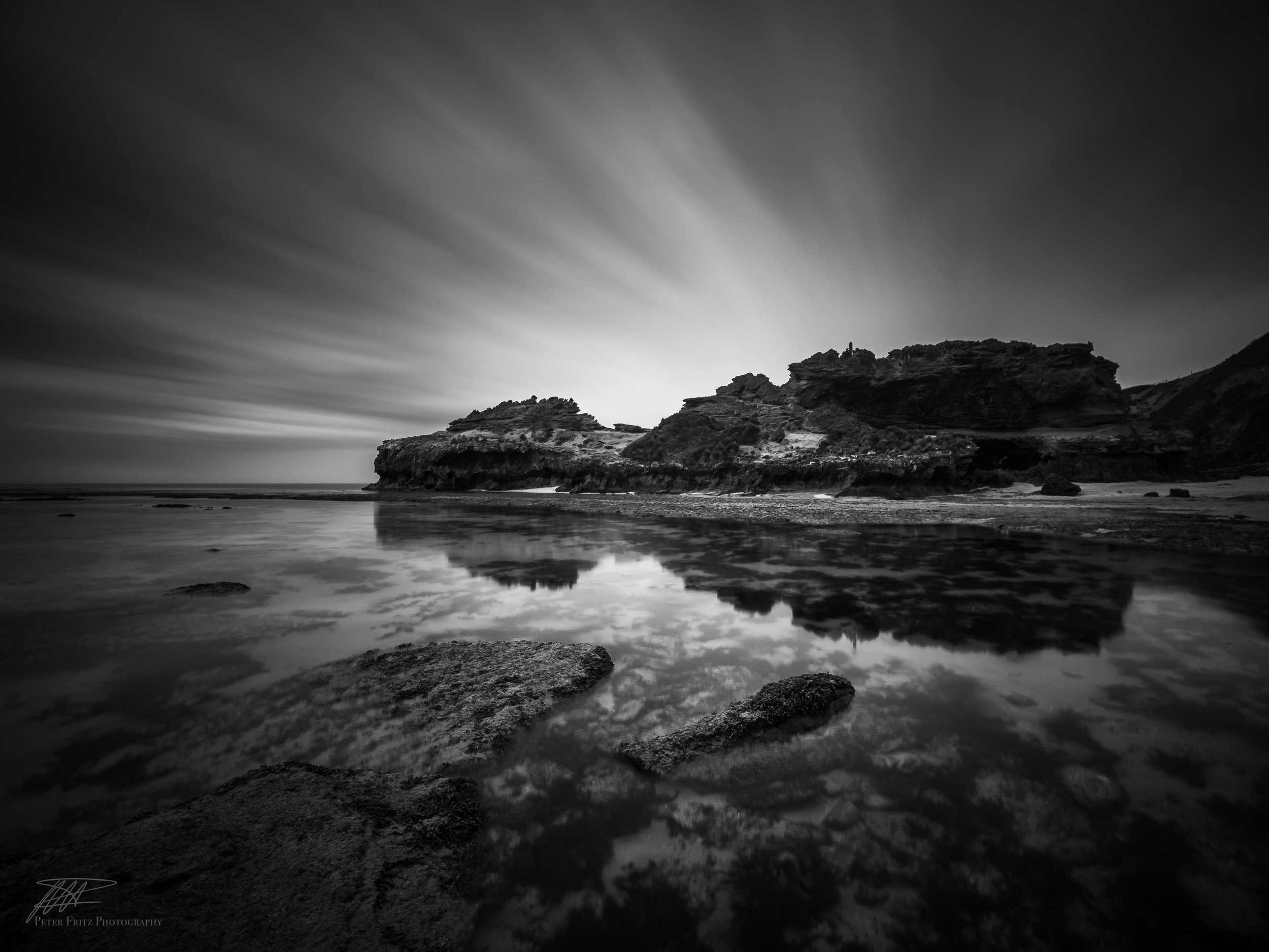 London Bridge, Portsea. This high contrast image with focused highlights and great reflections is definitely not what the camera captured. The process of getting the final look I'm after can take hours but I love it. See where this picture came from below.