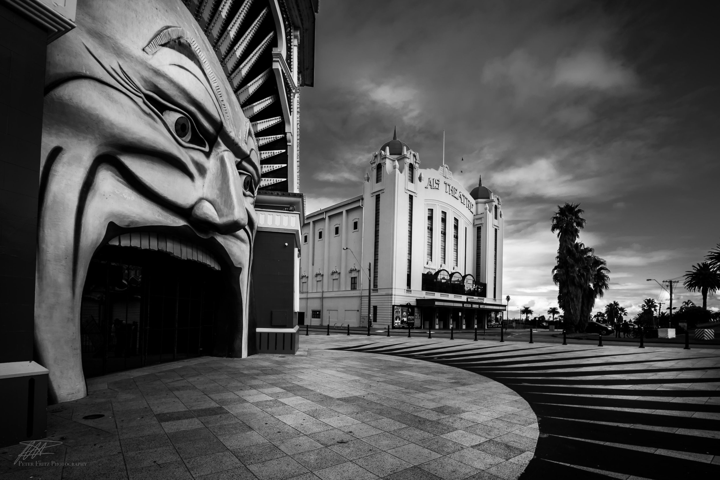 The almost menacing nature of the face in BNW is at odds with the 'Luna Park…. Just for Fun' theme we're accustomed to.