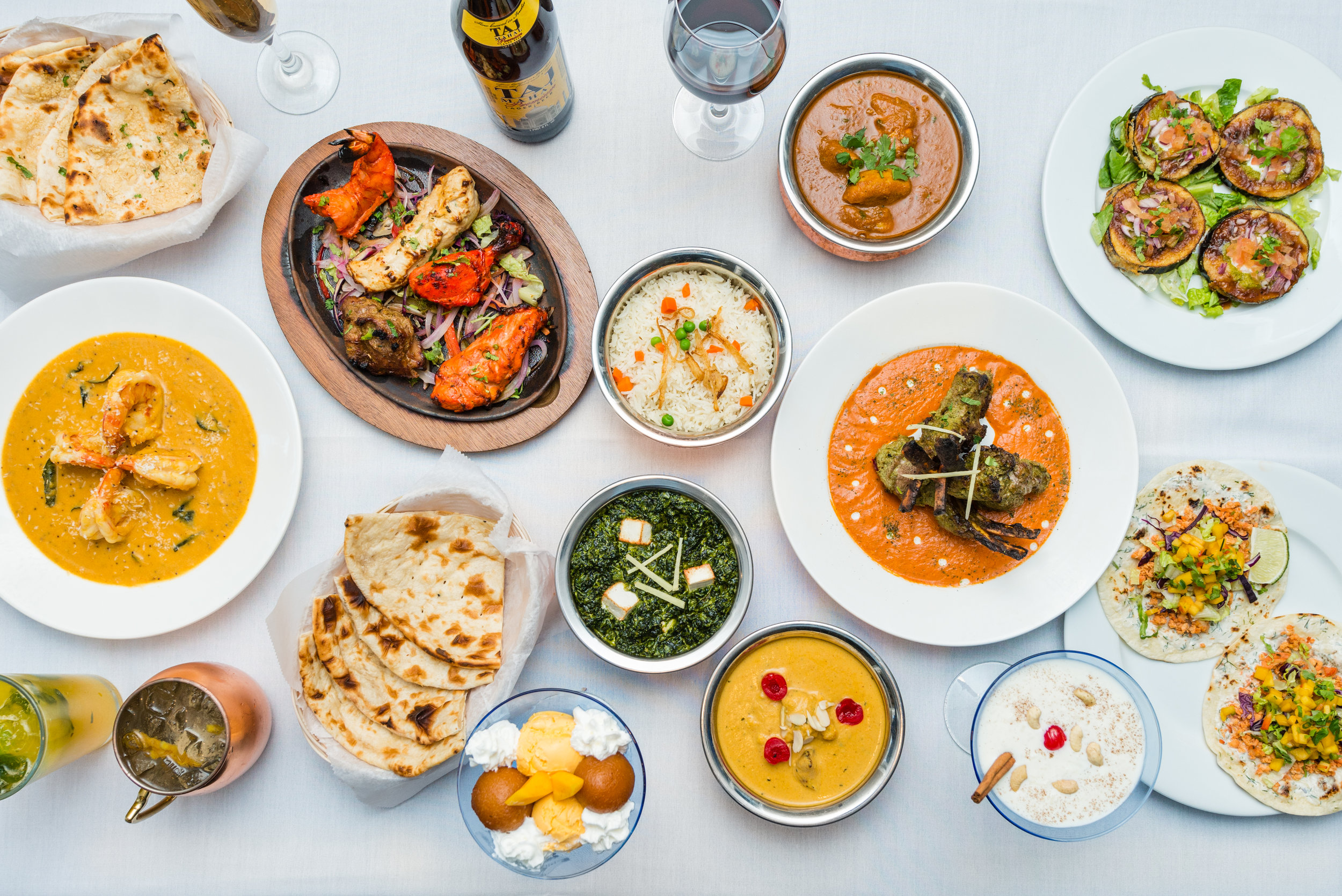 An Assortment of Delicious Dishes from the Indi-Q Menu