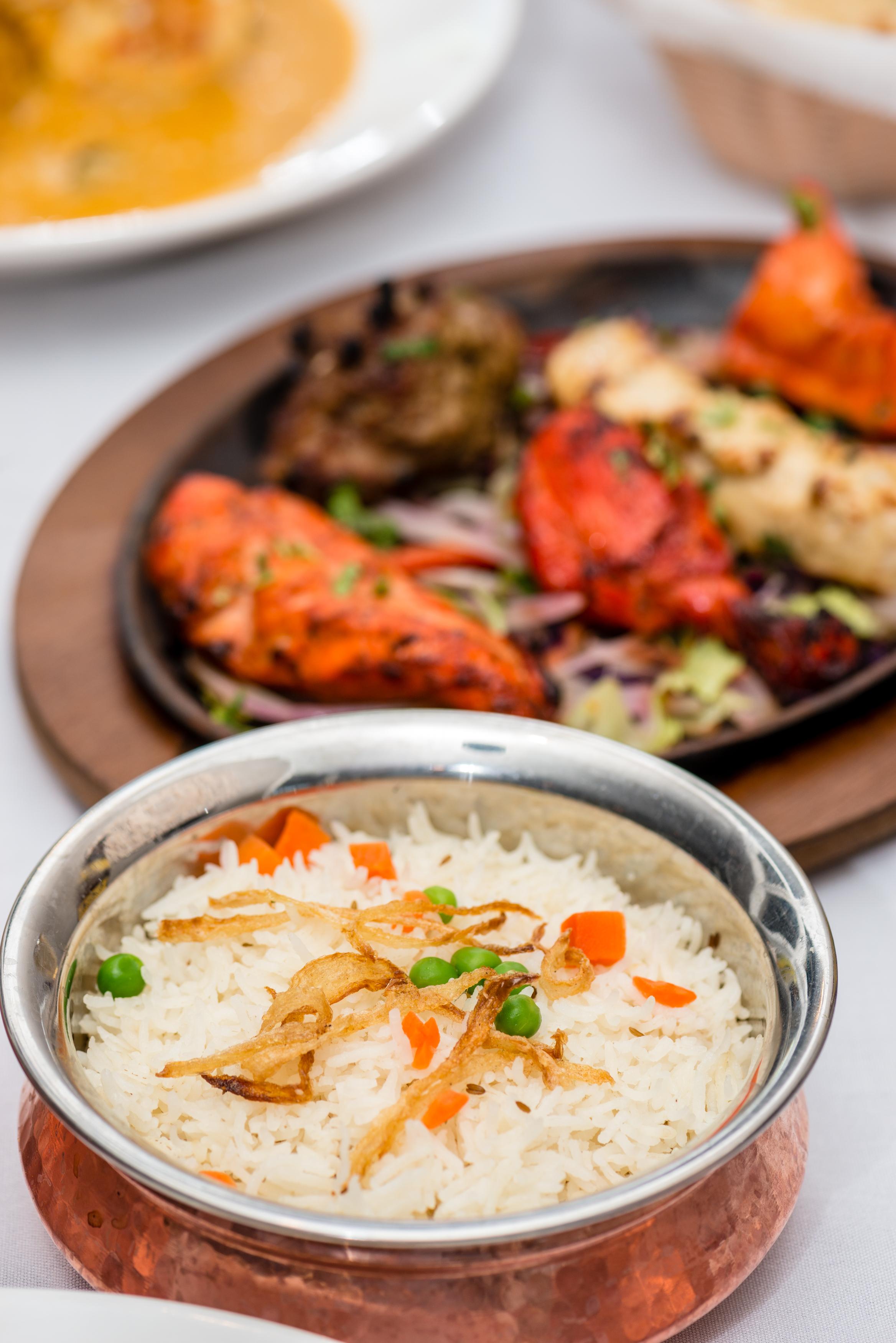 Basmati Rice and Mixed Kabobs