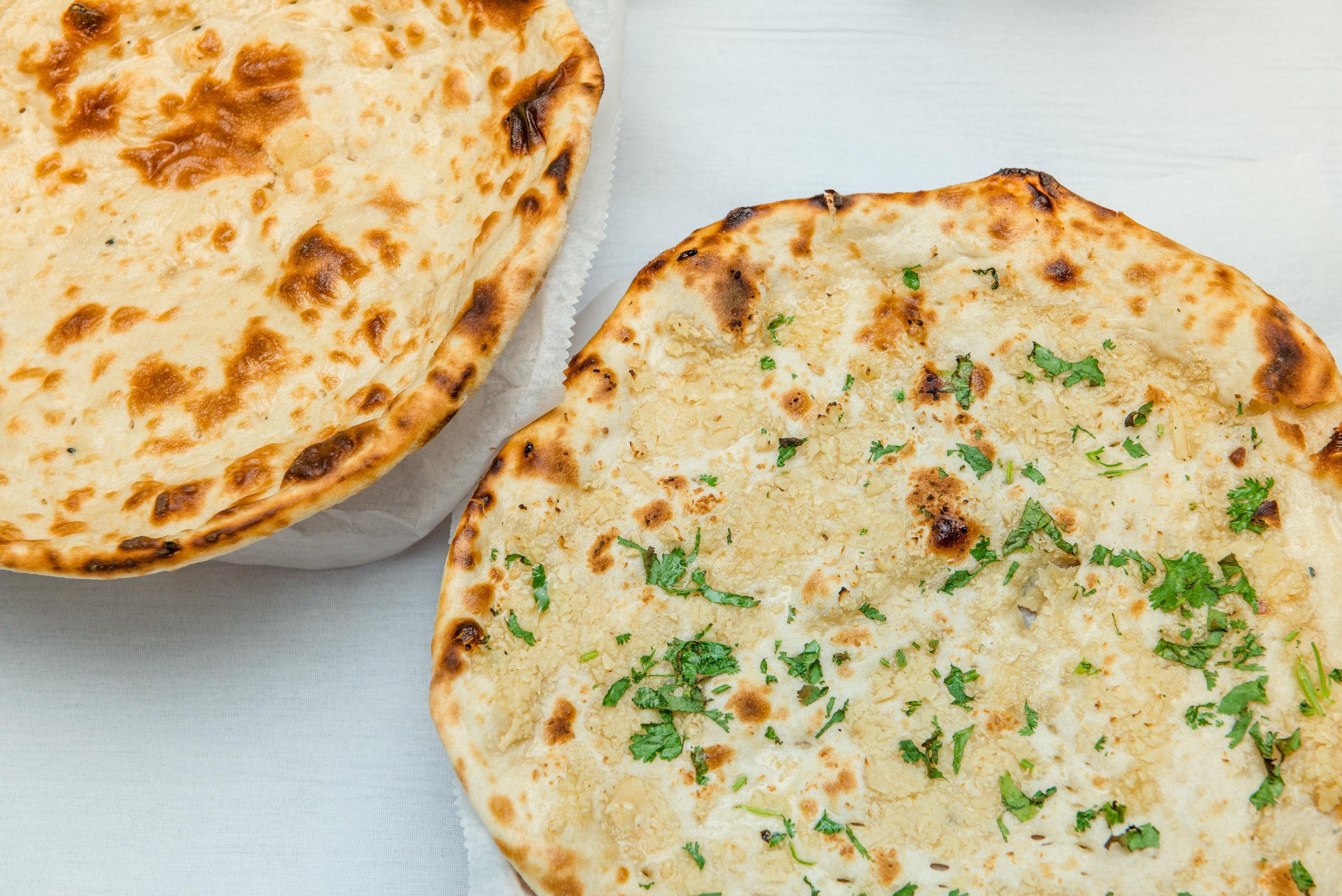 Plain and Garlic Naan