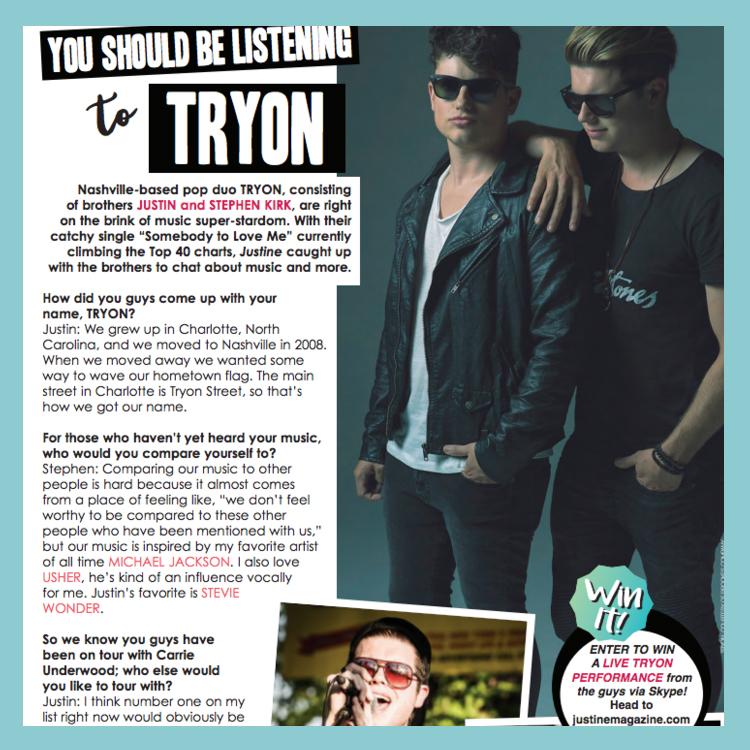 Tryon Justine Magazine