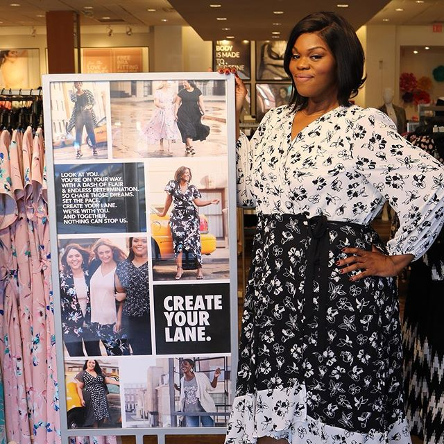 My first in store event @lanebryant Bowie Town Center was a success! It was only right that I wore a piece from my girl @iambeauticurve's new collection.  I met so many women who were ready to get their lewks and fashions together for spring!  The recap is on the blog and the link is in the bio!