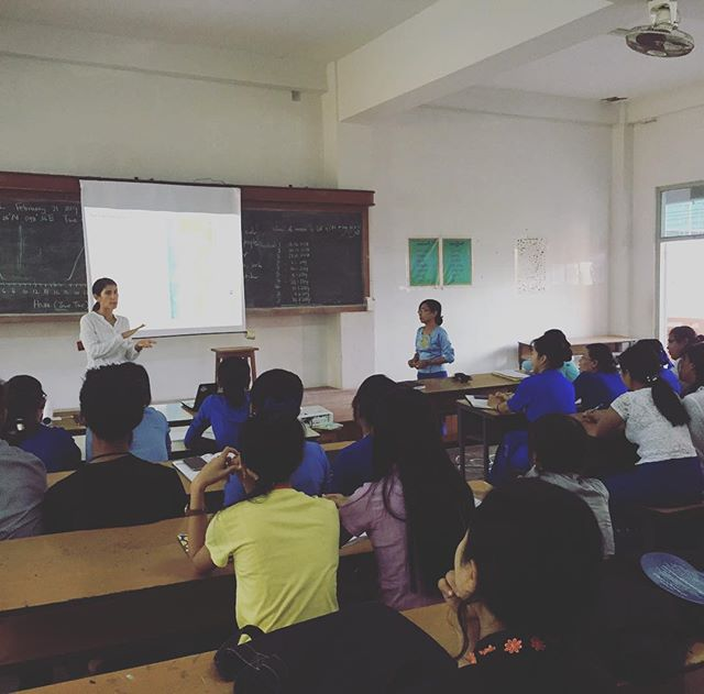 Sharing research results with Myanmar's future marine scientists! . . . #sharkraympa #myeik #myanmar #asia #classroom #learning #university #science #livelihoods #marine #marinescience #sciencematters #mpa #fisheries #alwayslearning @jamescookuniversity @sharkconservationfund @cstfa_jcu