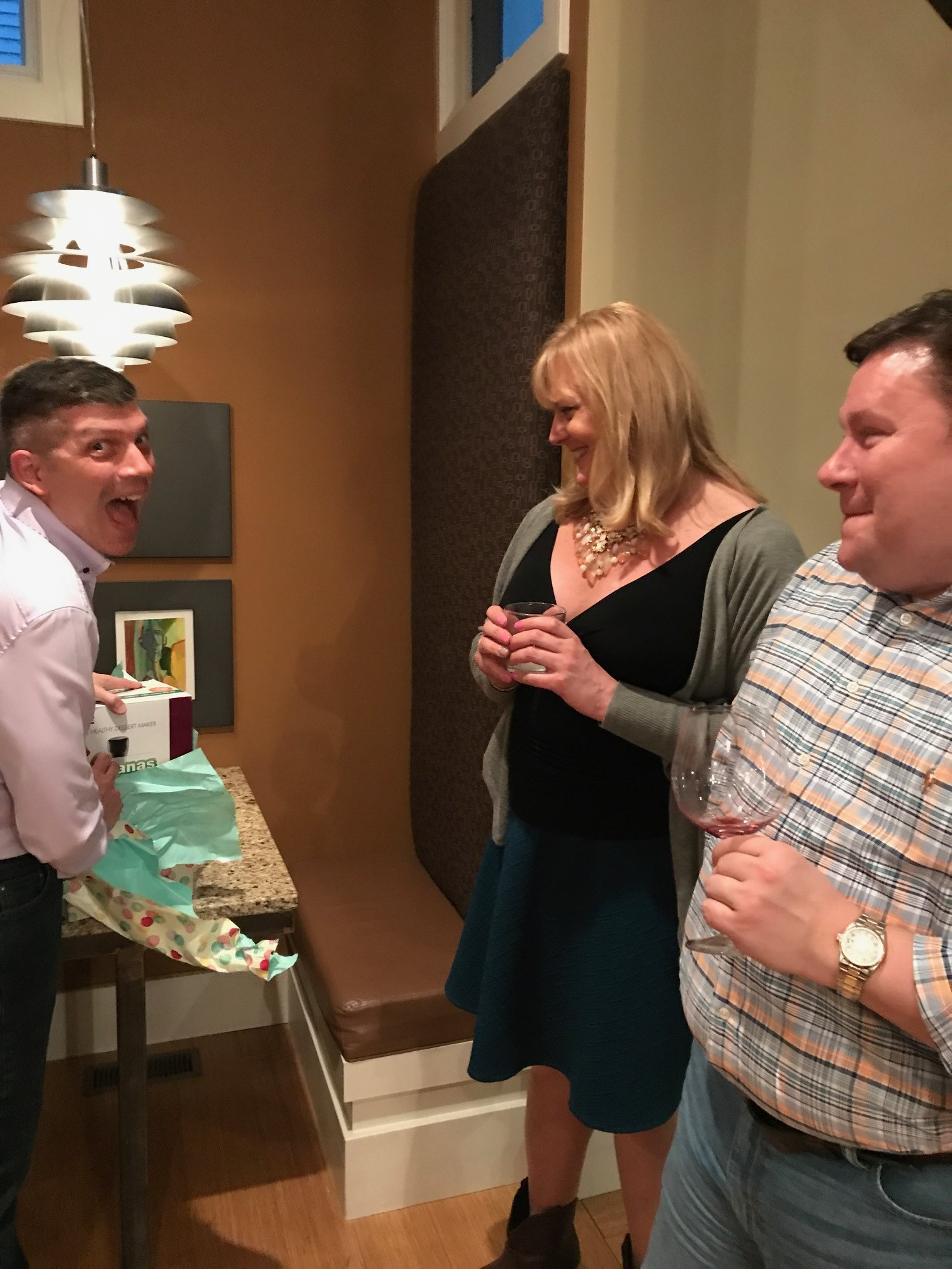 Brooke and Chad gave John a Yonana Machine- Yes, he was very excited...