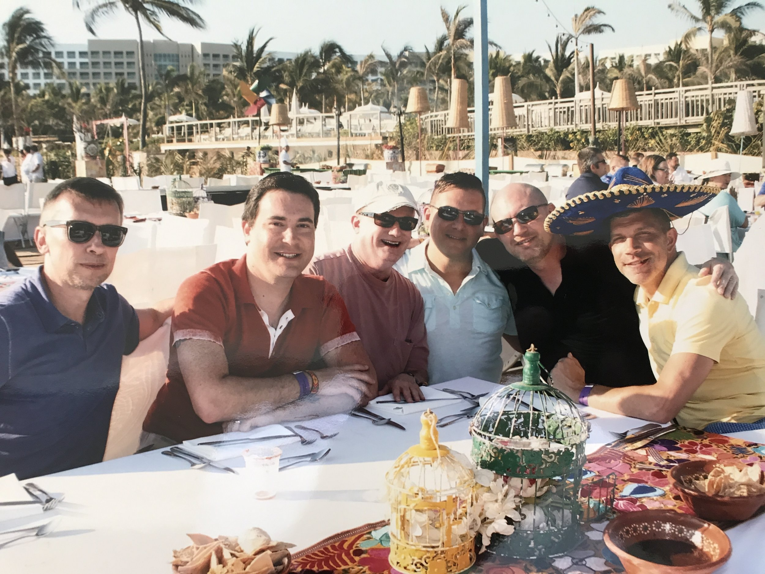Fiesta on the beach with the boys