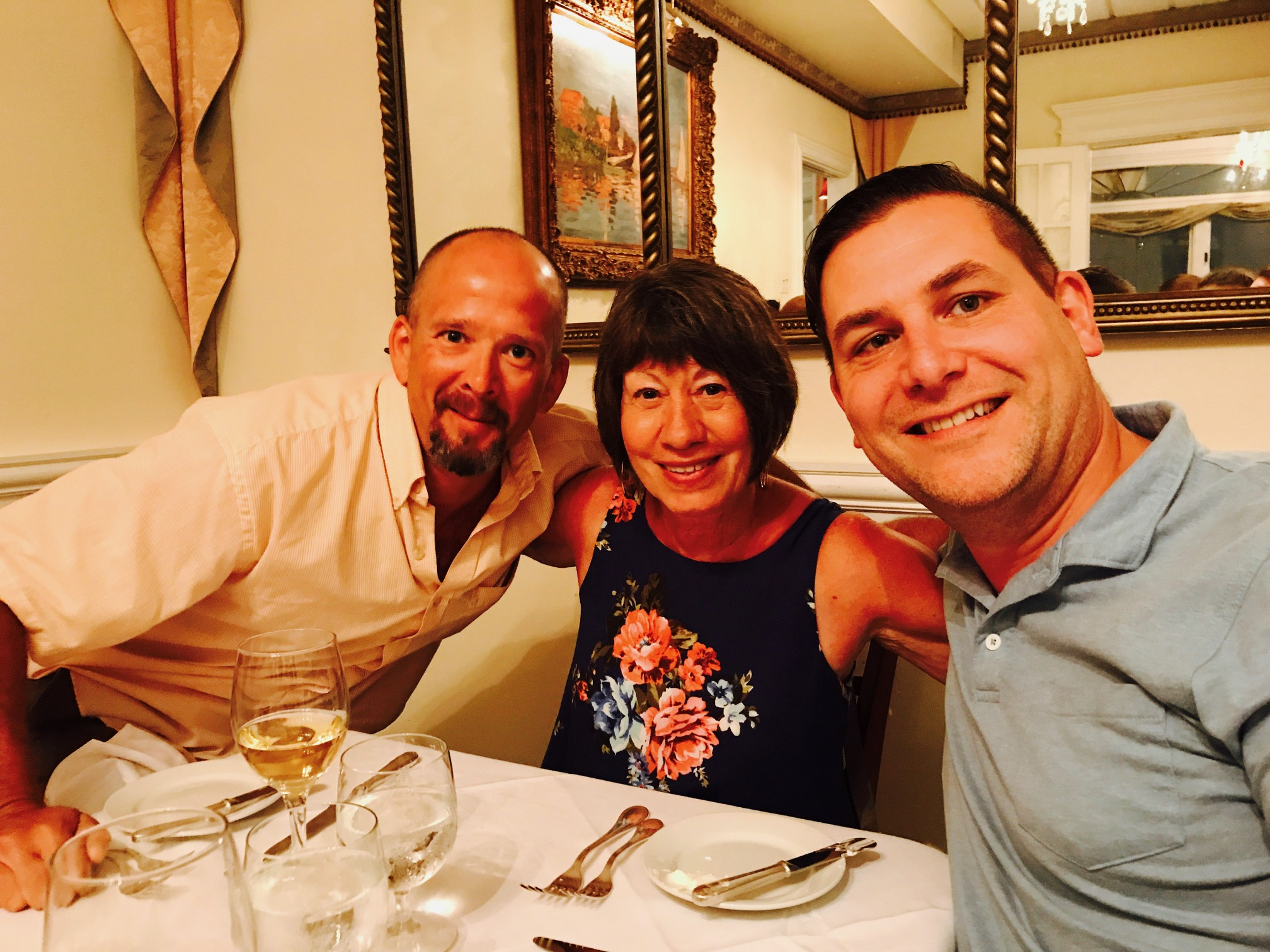 Pre-wedding dinner with cousin Dave and Aunt Sue