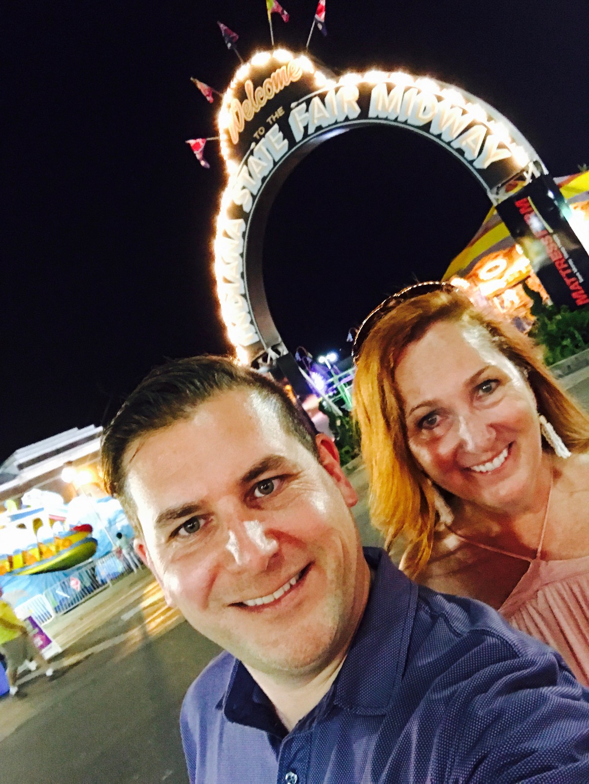 Rod and Susan on the Indiana State Fair midway