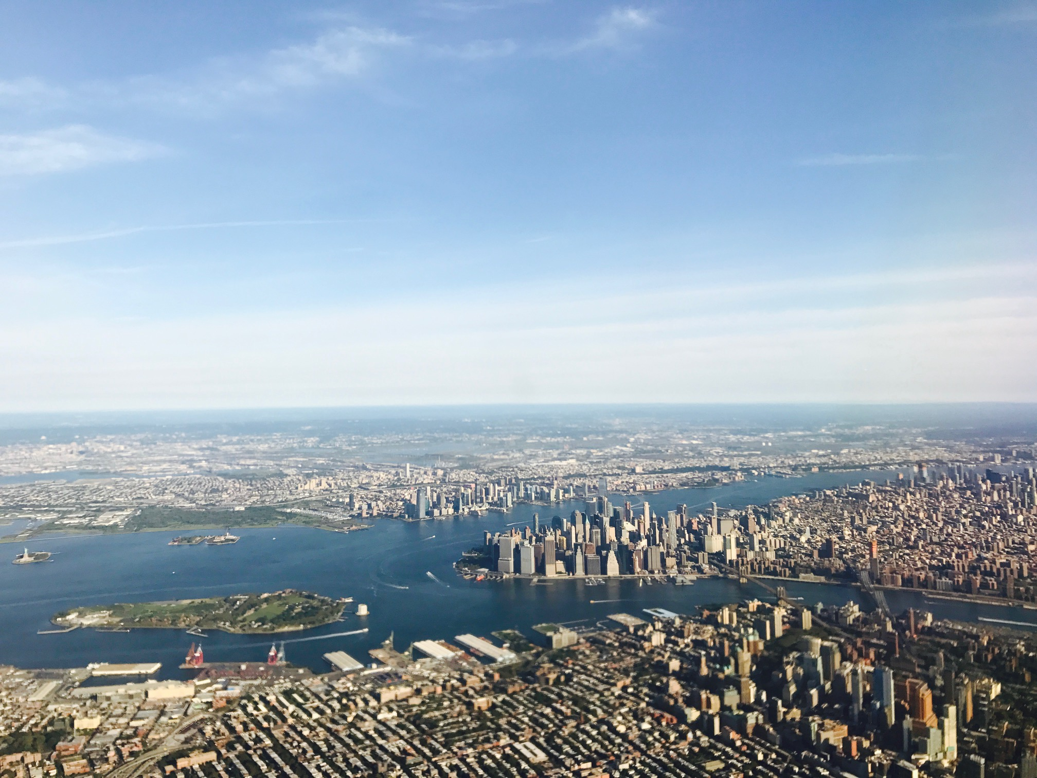 Flying into New York CIty on Labor Day weekend