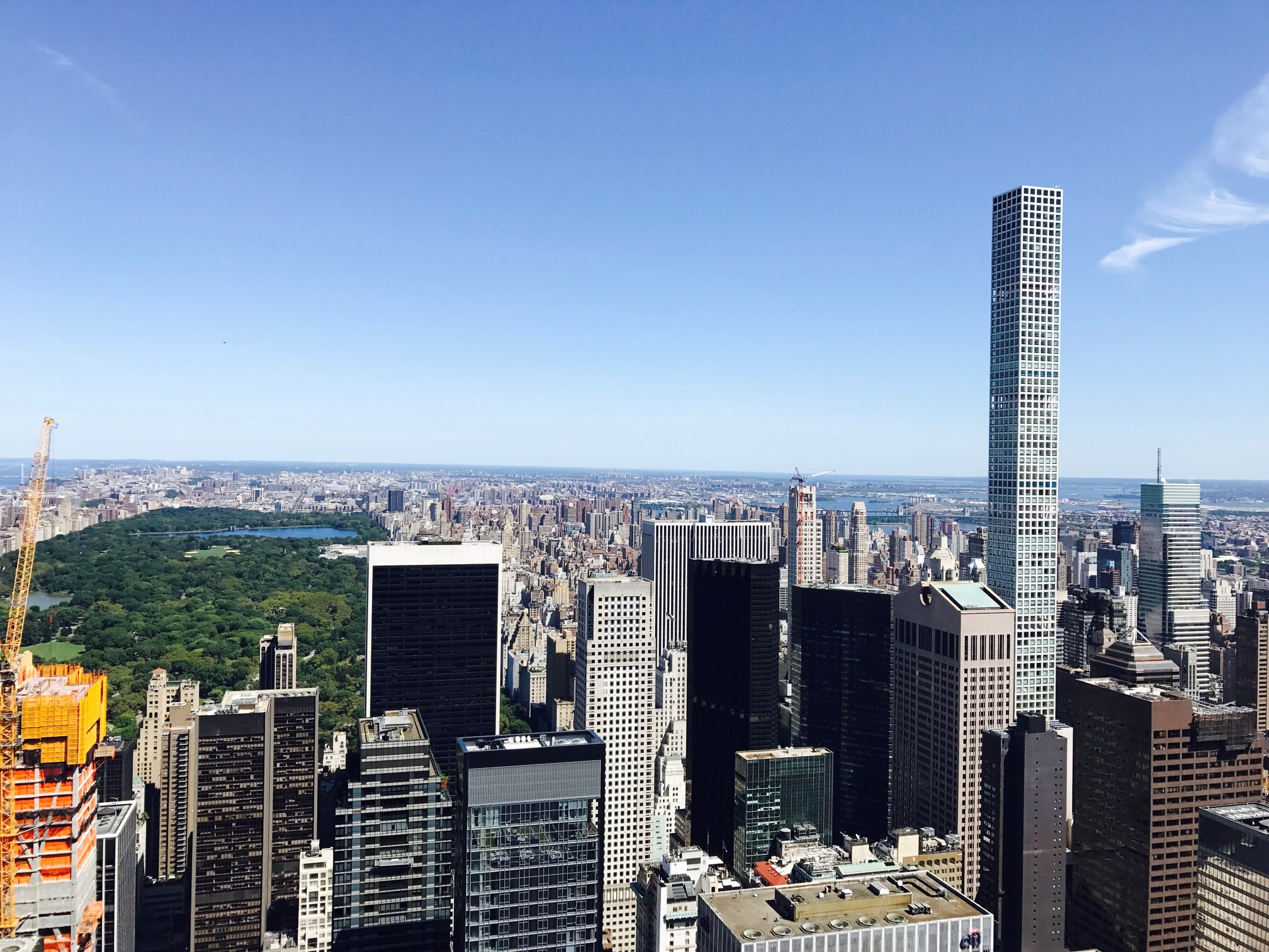 The amazing view from The Top of the Rock