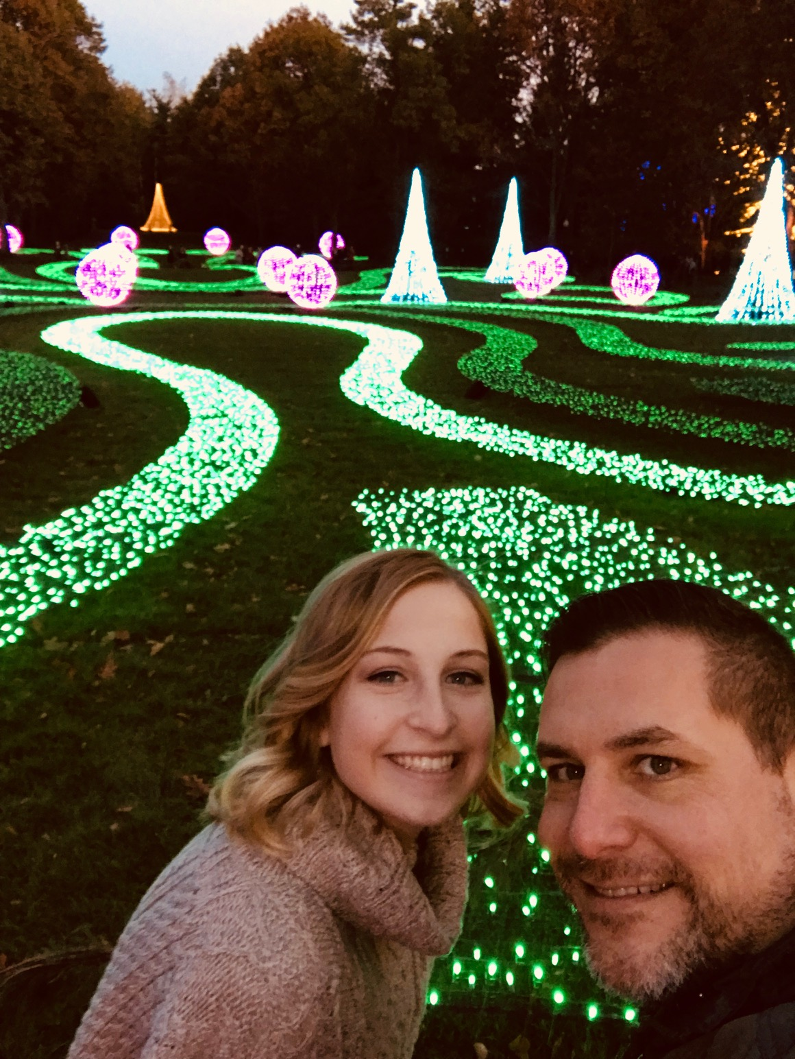 Claire and I at the opening night of Winterlights. It was amazing...