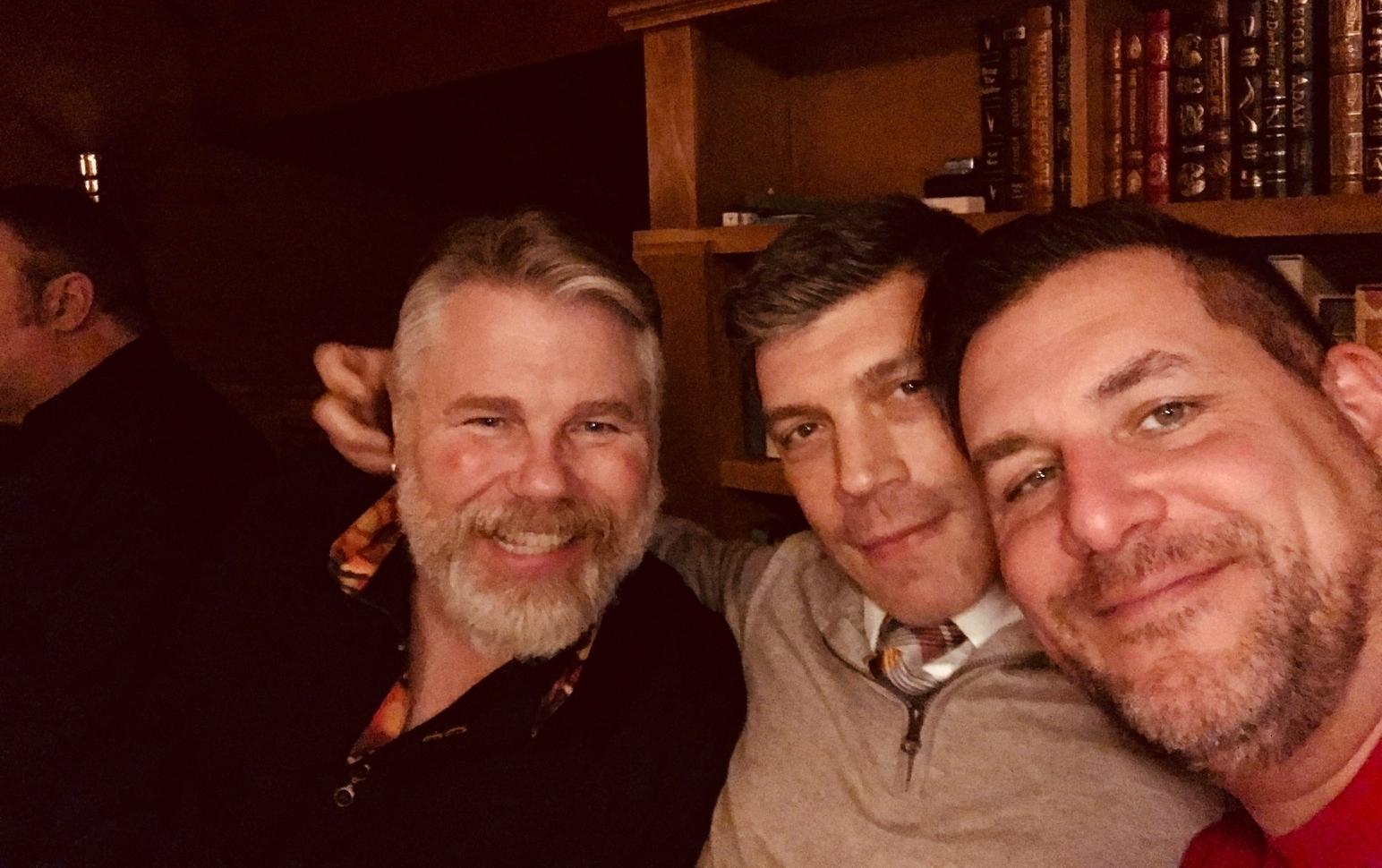 Kris, Joe, John, and Rod at Dinner in the Loft