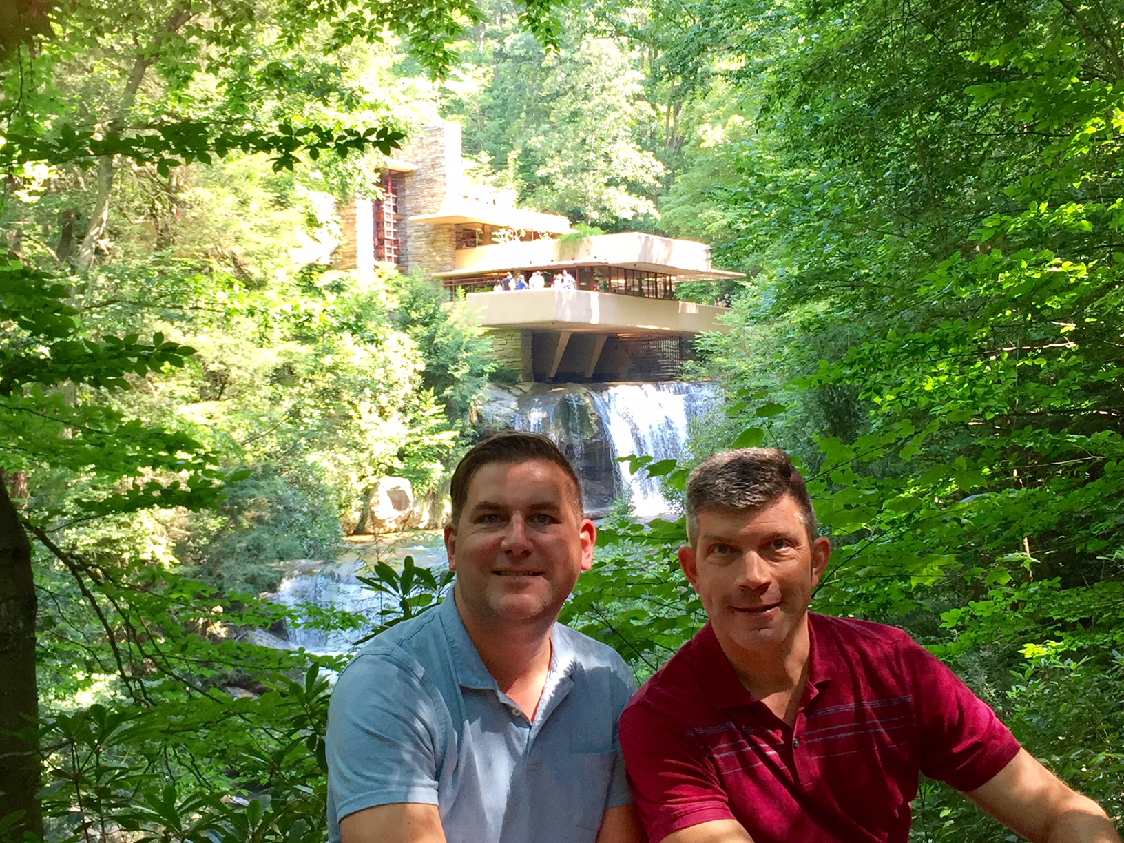 The overlook at Fallingwater