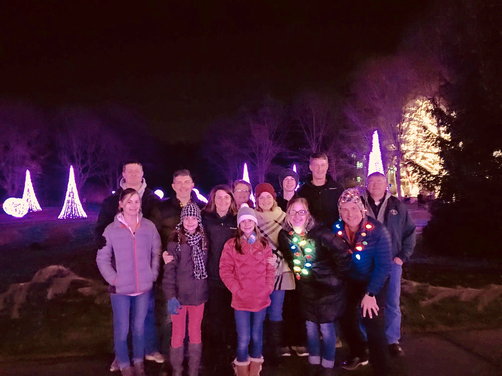 The Collier Crew at Winterlights at Newfields at the IMA.