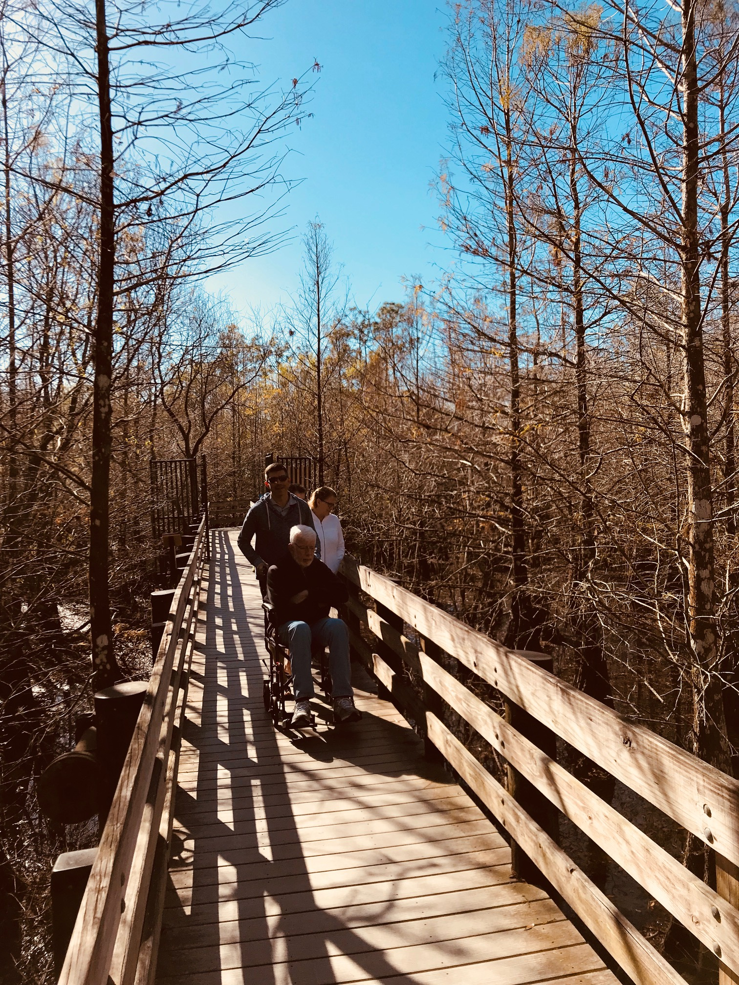 A family walk in the nature preserve