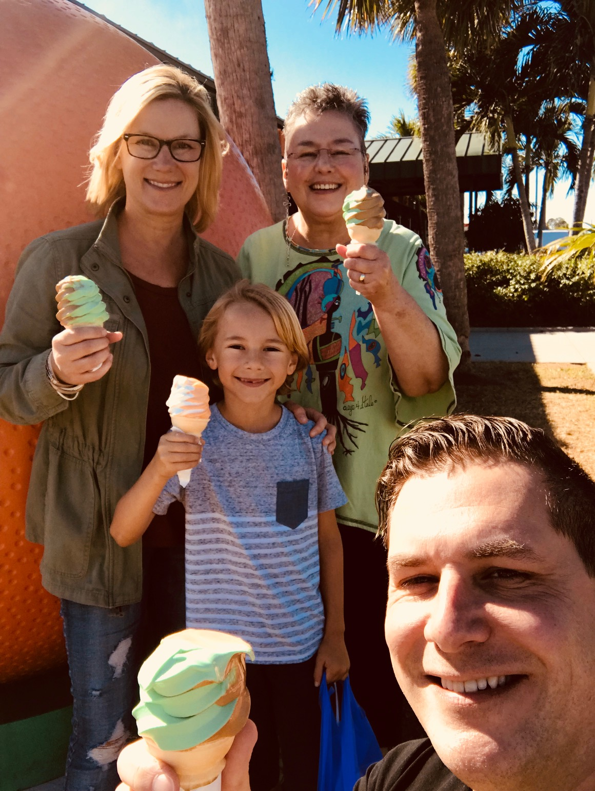 Lime and Chocolate ice cream!!!