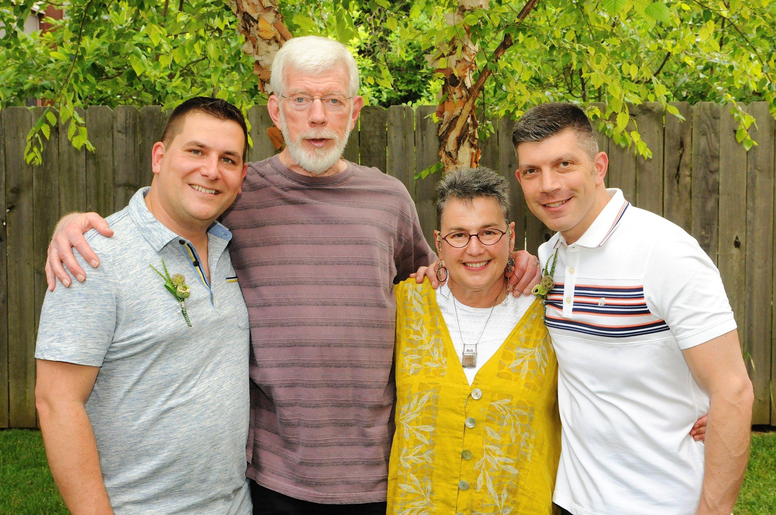 Rod, David, Becka, and John, Collier+Strachan Wedding 2014