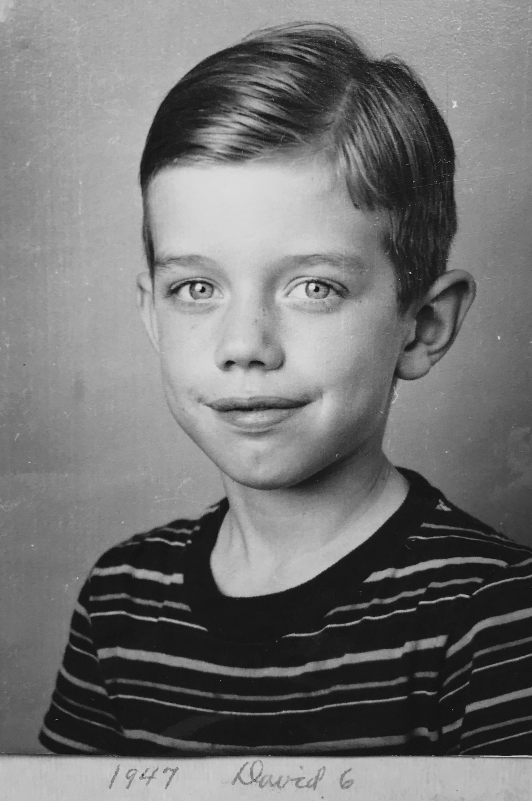 The most amazing photo of David at age 6 that I found in a collection of photos from John's parents.