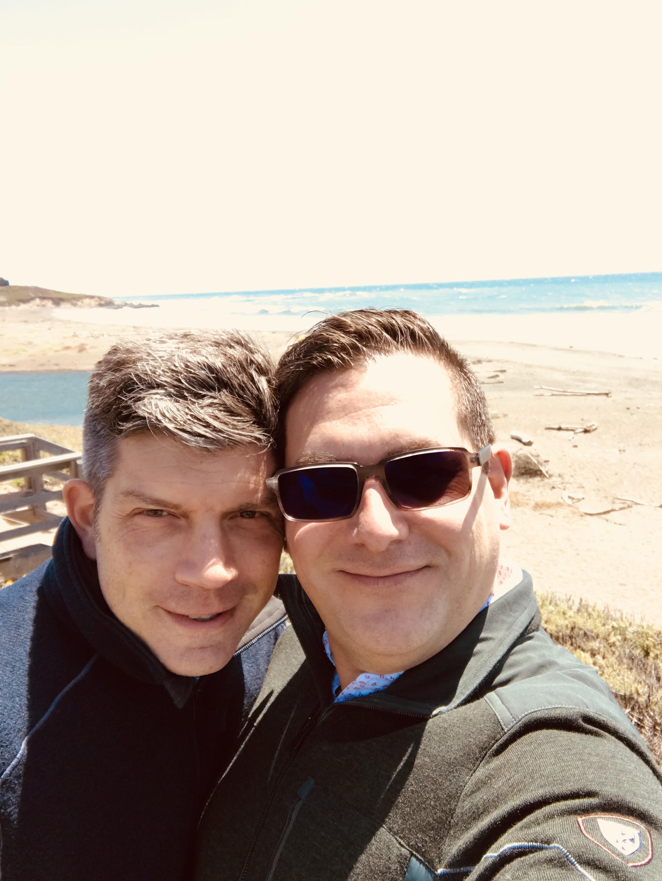 John and Rod on the beach