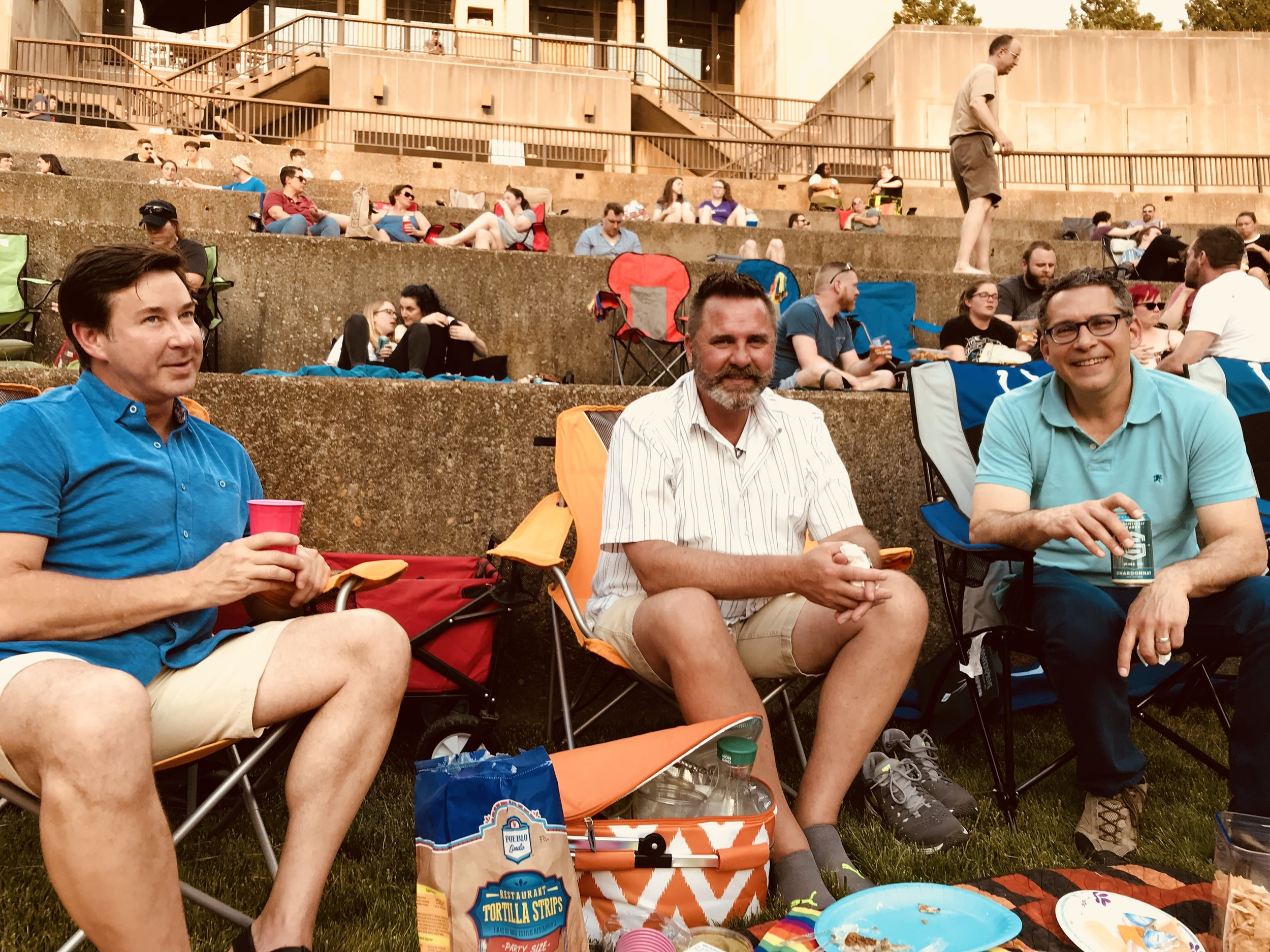 Movies on the terrace at Newfields