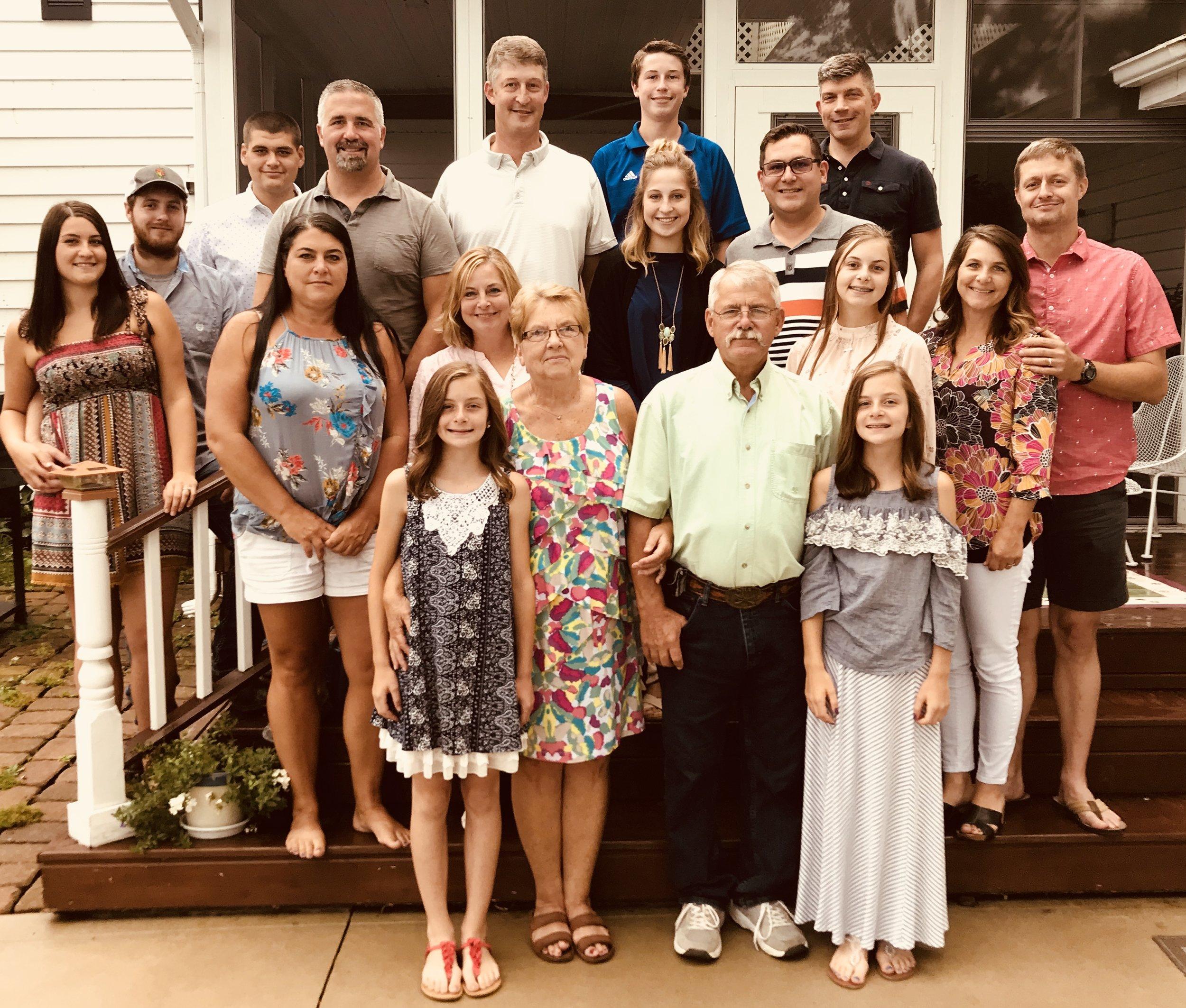 The Entire Collier Clan. LtoR: Taylor, Chris, Connor, Robin, Tim, Caitlyn, Terri, Doug, Linda, Dale, Claire, Jim, Rod, John, Cora, Kendyll, Heidi, and Deric