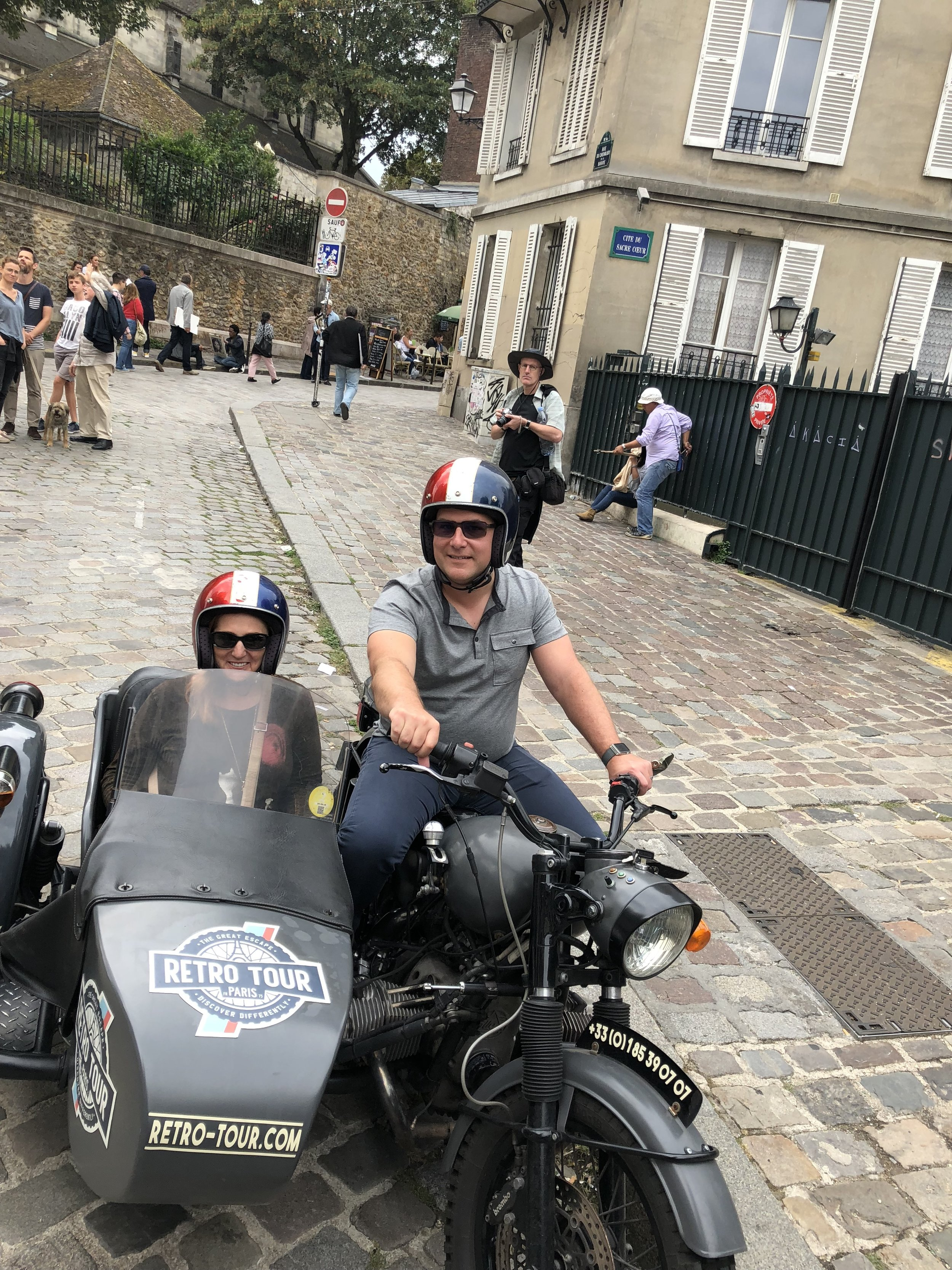 The best way to see Paris is from a motorbike and sidecar