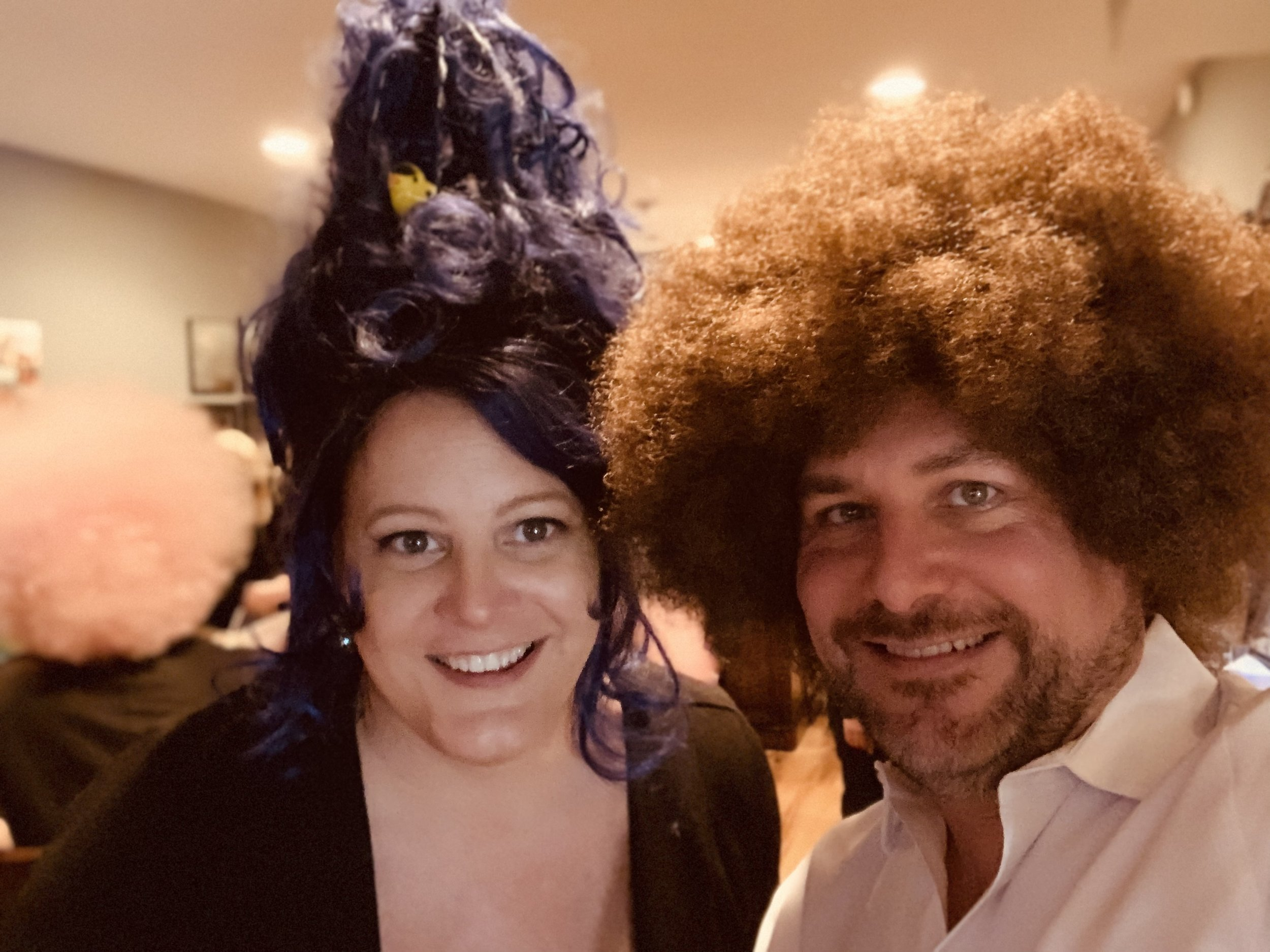 Brooke and Rod at the Wiggin Out party at Rob and Johnny's house.