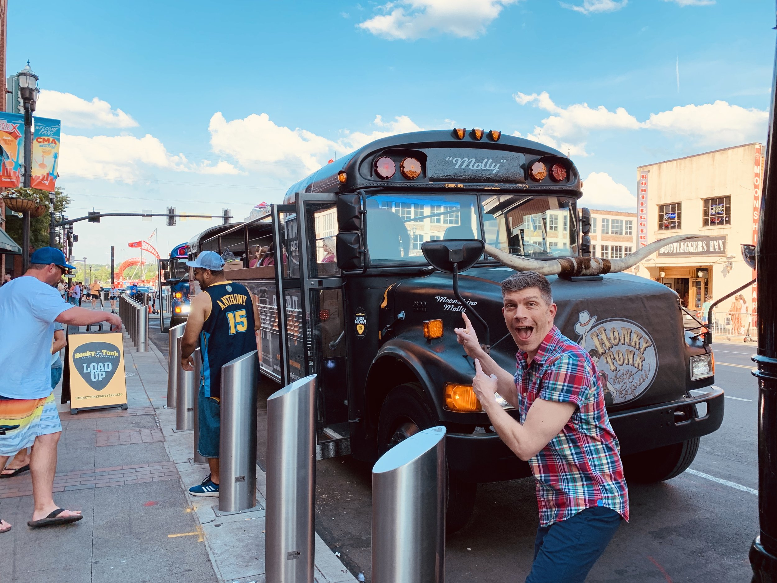 buses lose their tops in Nashville and are filled with Bridal parties…