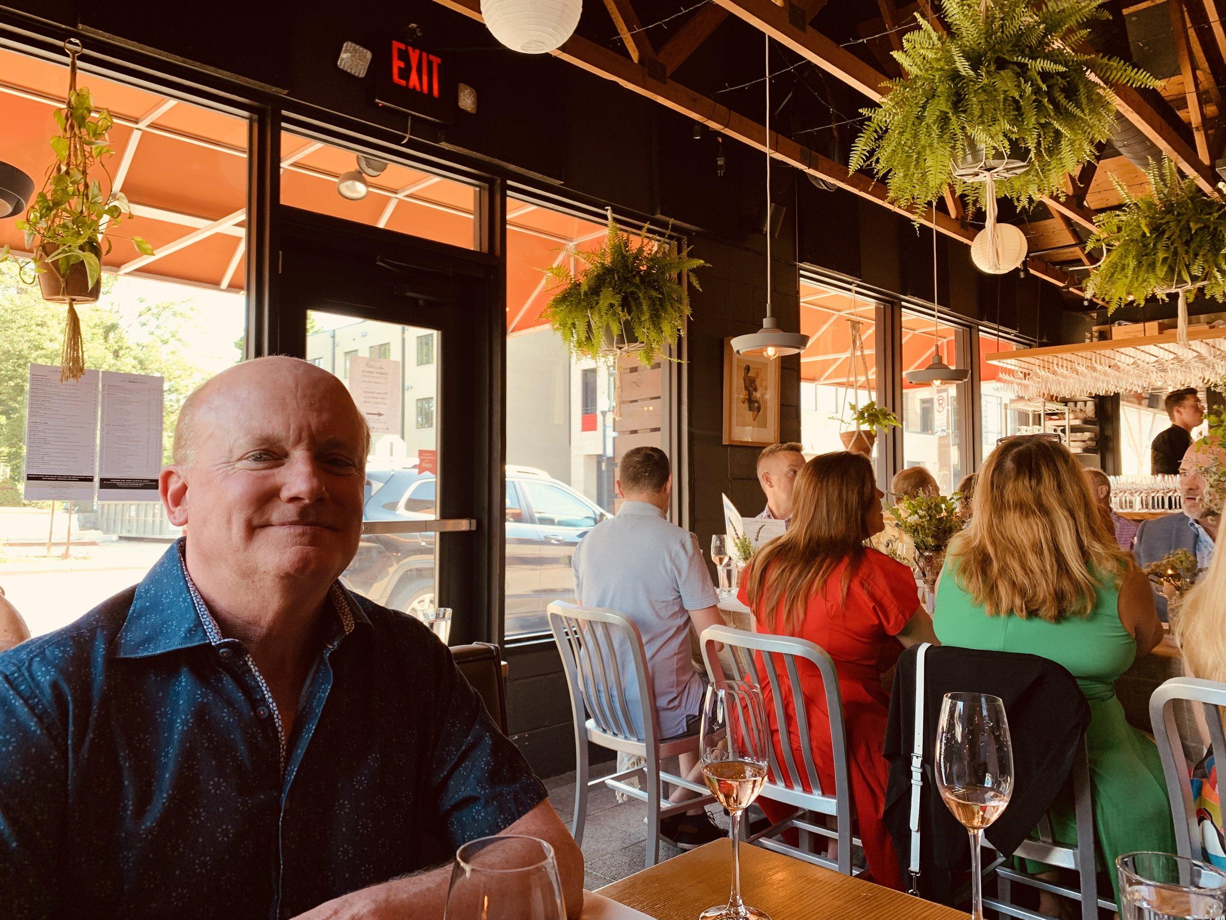 Leonard at Bastille Day Dinner