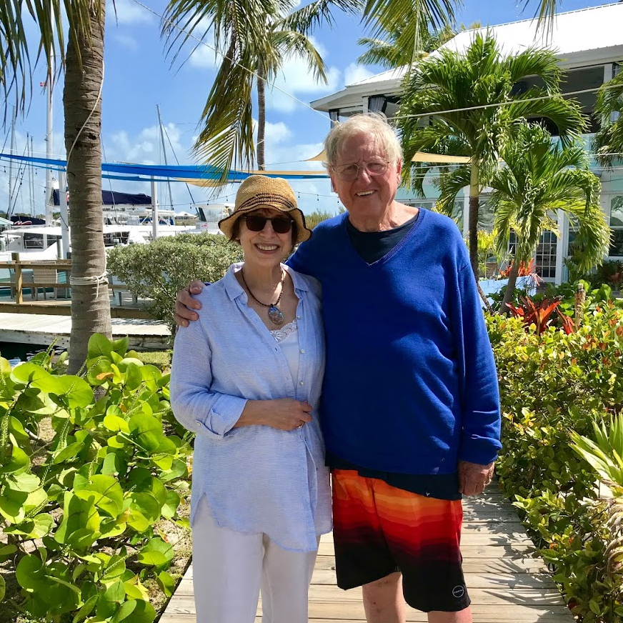 My parents in the Bahamas in 2018.