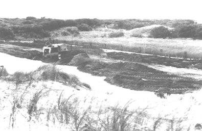 Forming the Esplanade road.