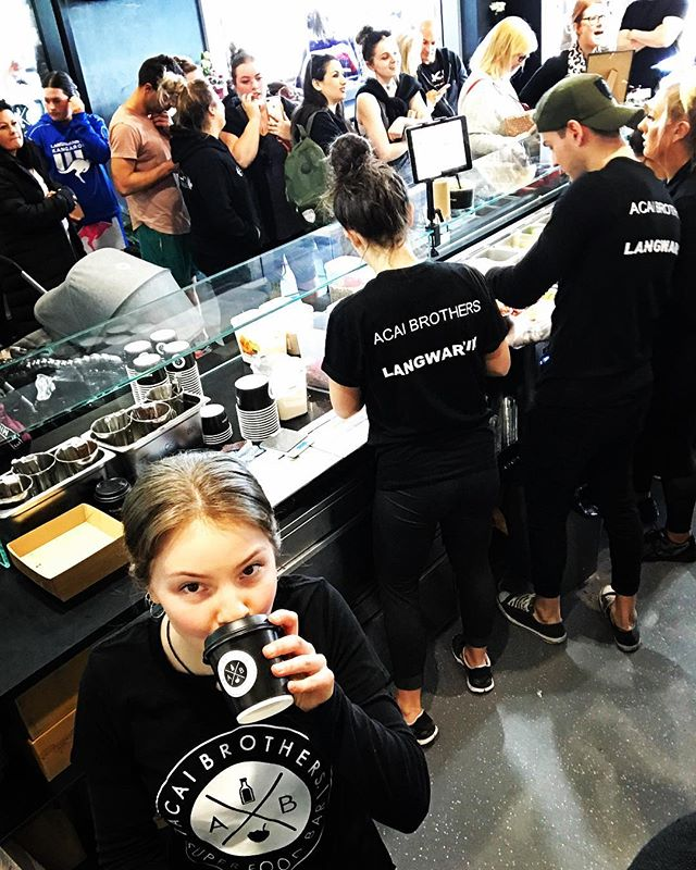 Good golly Miss Holly!! What a Grand Opening. Well done to the @acaibrothers_langwarrin team. Smashed it!! Now proudly pouring @acaibrothers_langwarrin . . #langwarrin #coffee #melbournecoffee #acaibrothers #dangerbirdcoffee #specialtycoffee #coffeeroasters #healthyliving