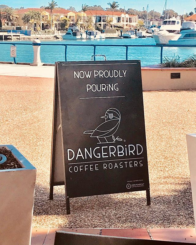@fiction_bar the bird has landed 🦅 . . #coffeetime☕ #cleveland #clevelandcoffee #dangerbirdcoffee #fictionbar #specialtycoffee #goodmorning #coffee