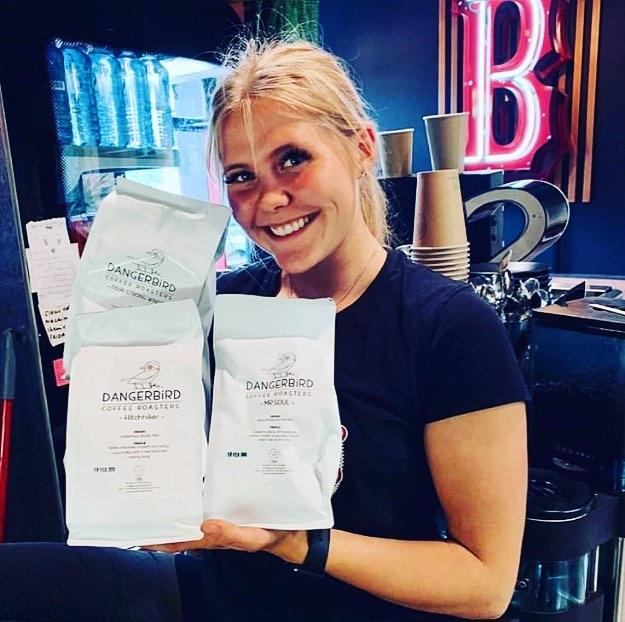 Welcome aboard the Dangerbird train @smokinbarrysbbq . . . . . #letthegoodtimesroll #smokingbarrysbbq #dangerbirdcoffee #specialtycoffee #melbournecoffee #cafe #coffee #bbq