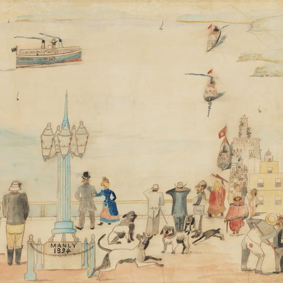Manly 1894, unknown artist XV/161  State Library of NSW