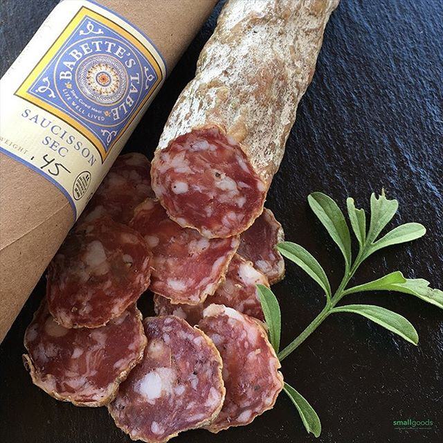 Every so often we get to expose San Diegans to products that, quite often, haven't left the state they were made in - like this one: Babette's Table, from northern Vermont. Erika Lynch's, dry cured meats allow the quality port flavor to come through. I love the soft texture and gentle flavors. ⠀ ⠀ Available this week at our San Diego market stands:⠀ ⠀ Sat: Little Italy⠀ Sun: Hillcrest ⠀ Wed: Carlsbad⠀ .⠀ #curedmeats #salumi #salami #sandiego #smallgoods #pork #sdlife #charcuterie #epicuriousclub #farmersmarket  #vtmeats #drycured #sandiego #madeinamerica #sauccisonsec #artisanfoods #eatersd #epicuresandiego #fermentedfoods #sandiegofarmermarkets #sdmag #sdfoodie #smallgoods_⠀