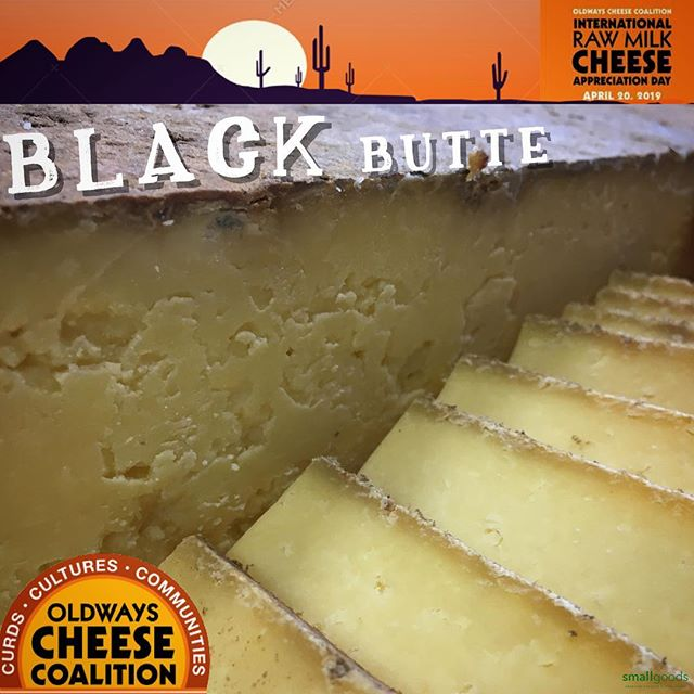 Here's another raw milk cheese we're rolling out this weekend. It's, Black Butte, from California's, Pedrozo Dairy. Tim creates this signature cheese from the family's herd of grass-loving cows. Utilizing raw milk allows the sharp, grassy flavors to really shine through. @oldwayscheese  Saturday: @littleitalymercato . Sunday:  @hillcrestfarmersmkt Wednesday:  @carlsbadfarmersmarket . americancheeseclub.com // @americancheeseclub // Monthly boxes of delicious American cheeses shipped. Link in bio. . . #smallgoods #americancheeseclub #rawmilk #rawcheeseday #rawmilkcheese #epicuriousclub #cheese #yelpsandiego #realamericancheese #ediblesandiego #smallgoods_ #sandiego #ilovecheese