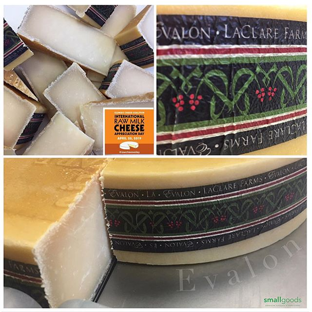 In celebration of International Raw Milk Appreciation Day, we're rolling out a number of raw milk cheeses this weekend at our market stands. First up: Evalon, from La Clare Farms. This one's a raw goat milk Gouda-style out of Wisconsin. It's won plenty of awards, including a few Best in Class' on domestic and international occasions.  @oldwayscheese  This weekend, Smallgoods market stands are at:  Saturday: @littleitalymercato . Sunday:  @hillcrestfarmersmkt . #rawcheeseday #rawmilkcheese  #smallgoods #realamericancheese #epicuriousclub #shoplocal #americanfarmers #dairy #yelpsandiego #americancheese #cheese #wicheeseguild #sandiegocheese #americancheeseclub #cheeseclub #ilovecheese #rawmilk #gouda #ediblesandiego #sdfoodie #culturecheese #eatersd #smallgoods_