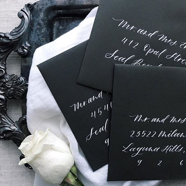 Want to take your wedding up a notch? Add calligraphy addressing to your suites. Just like that, boom! You've added some class and romance✨ . . . . #custommade #envelopeaddressing #moderncalligraphy #bespoke #wedding #weddinginspiration #bride #bridetobe #weddinginspo #stylemepretty #risingtidesociety #communityovercompetition #weddingwire #creativeentrepreneur #beingboss #weddingstyle #solopreneur #flashesofdelight #greenweddingshoes #thedailywedding #creativepreneur #bridalinspo #loveauthentic #weddingplanning #gettingmarried #darlingmovement #destinationwedding #shesaidyes #junebugweddings #sozocreativestudio