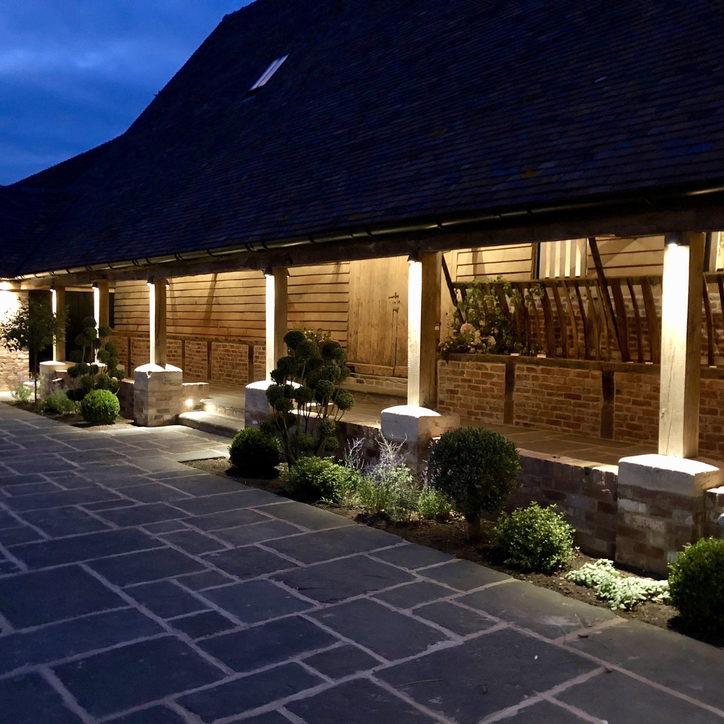 Barns and Yard Courtyard at night.jpg