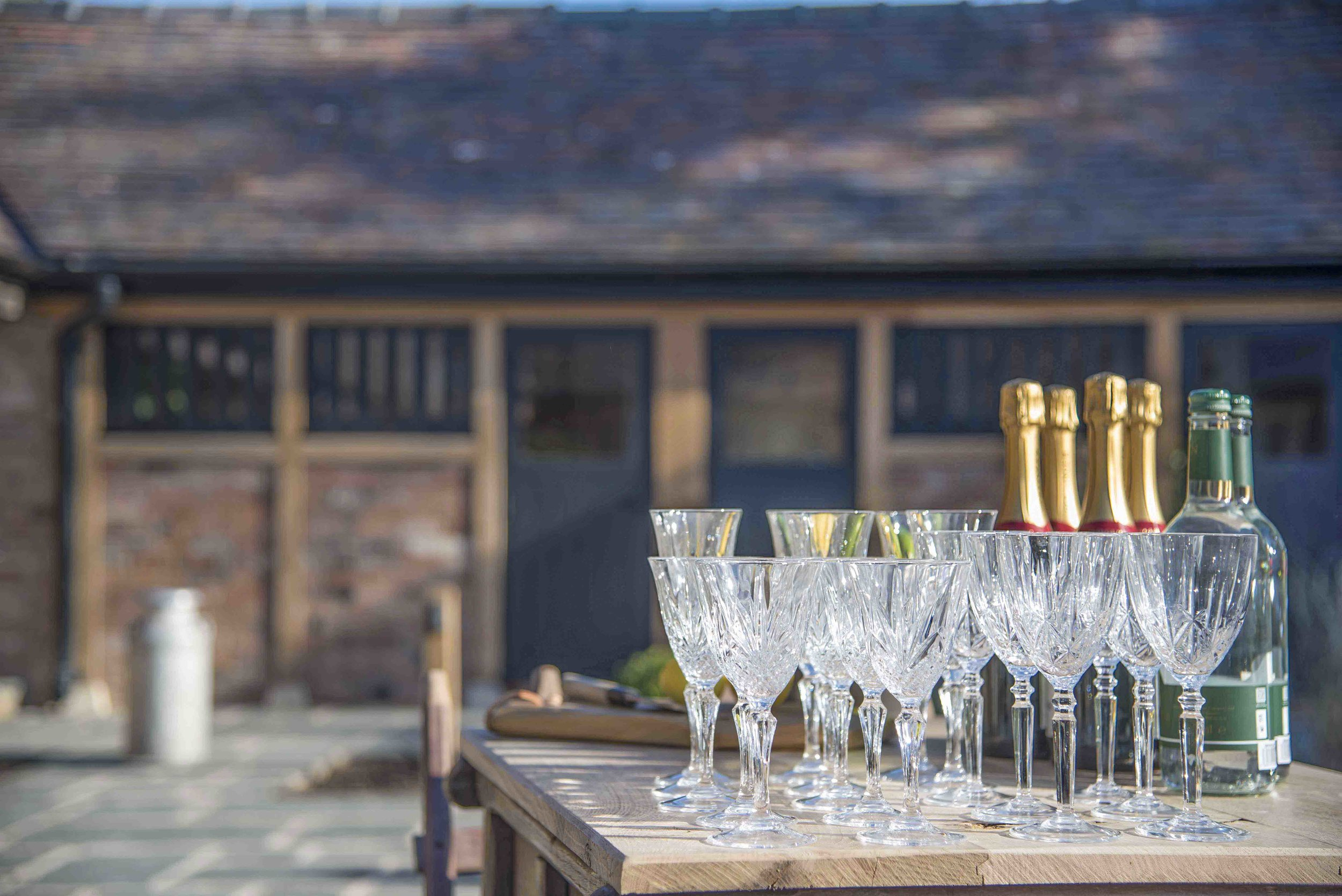 Champagne Glasses and bottles at Barns and Yard Malvern sharper.jpg