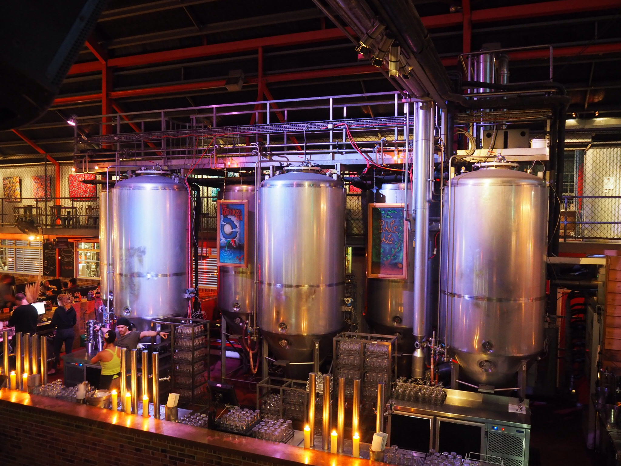 Getting up close and personal with the brewery process