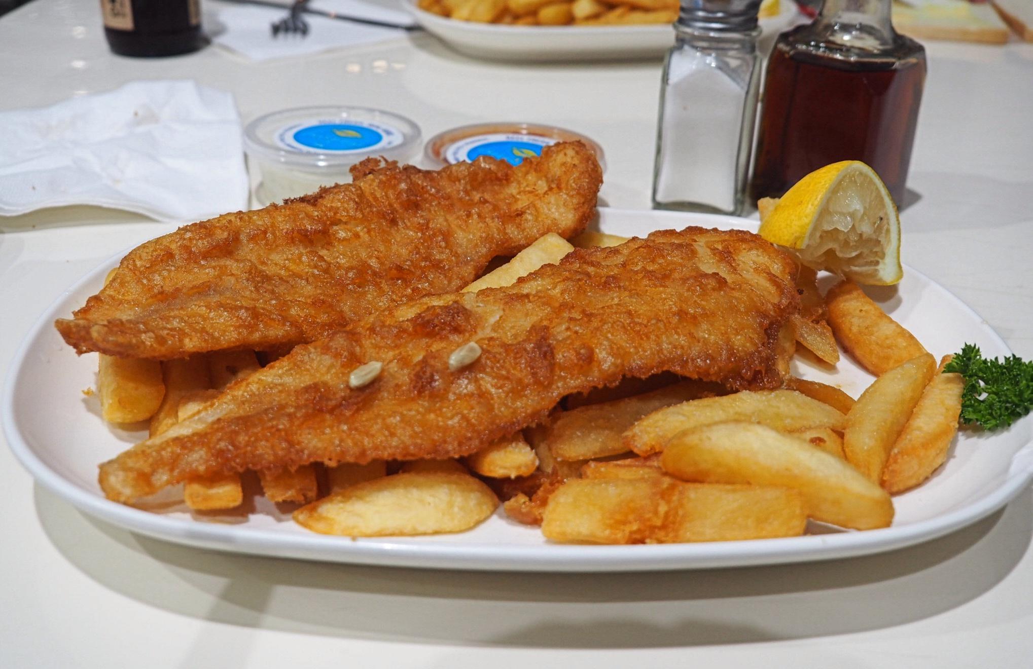 Fish and chips at Sweet Lips Fish Bar