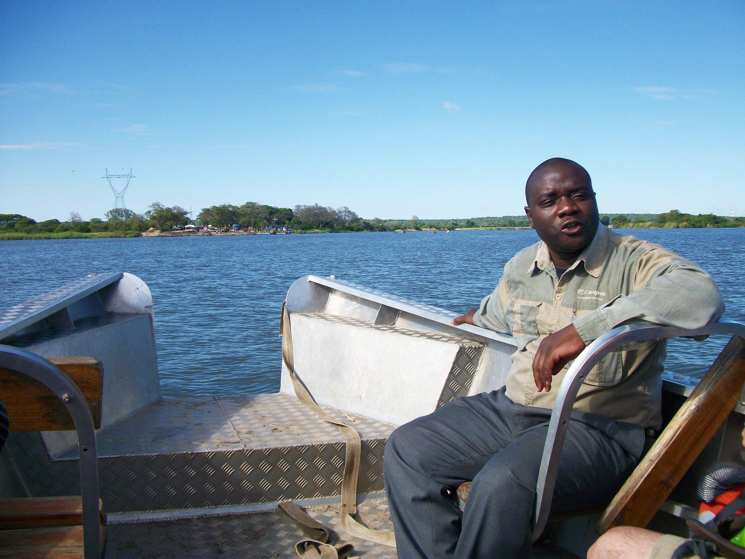 Our friendly Botswanian safari guide