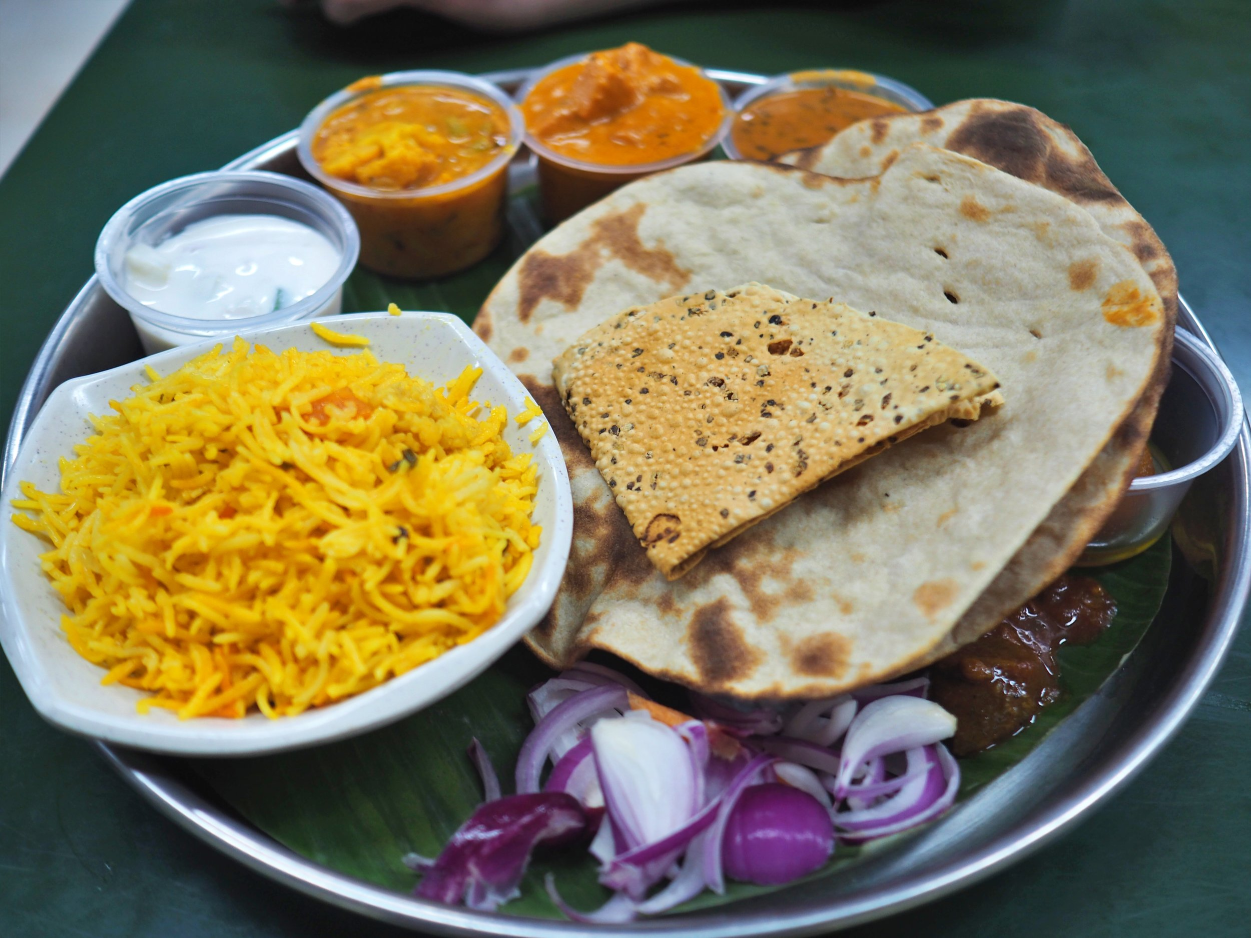 Yes, this Indian thali is very tasty, but you might want to wait a few days before eating it