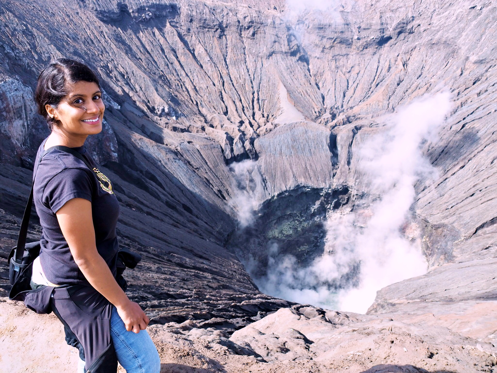 At Mount Bromo: the hike starting at 3am was well worth it.