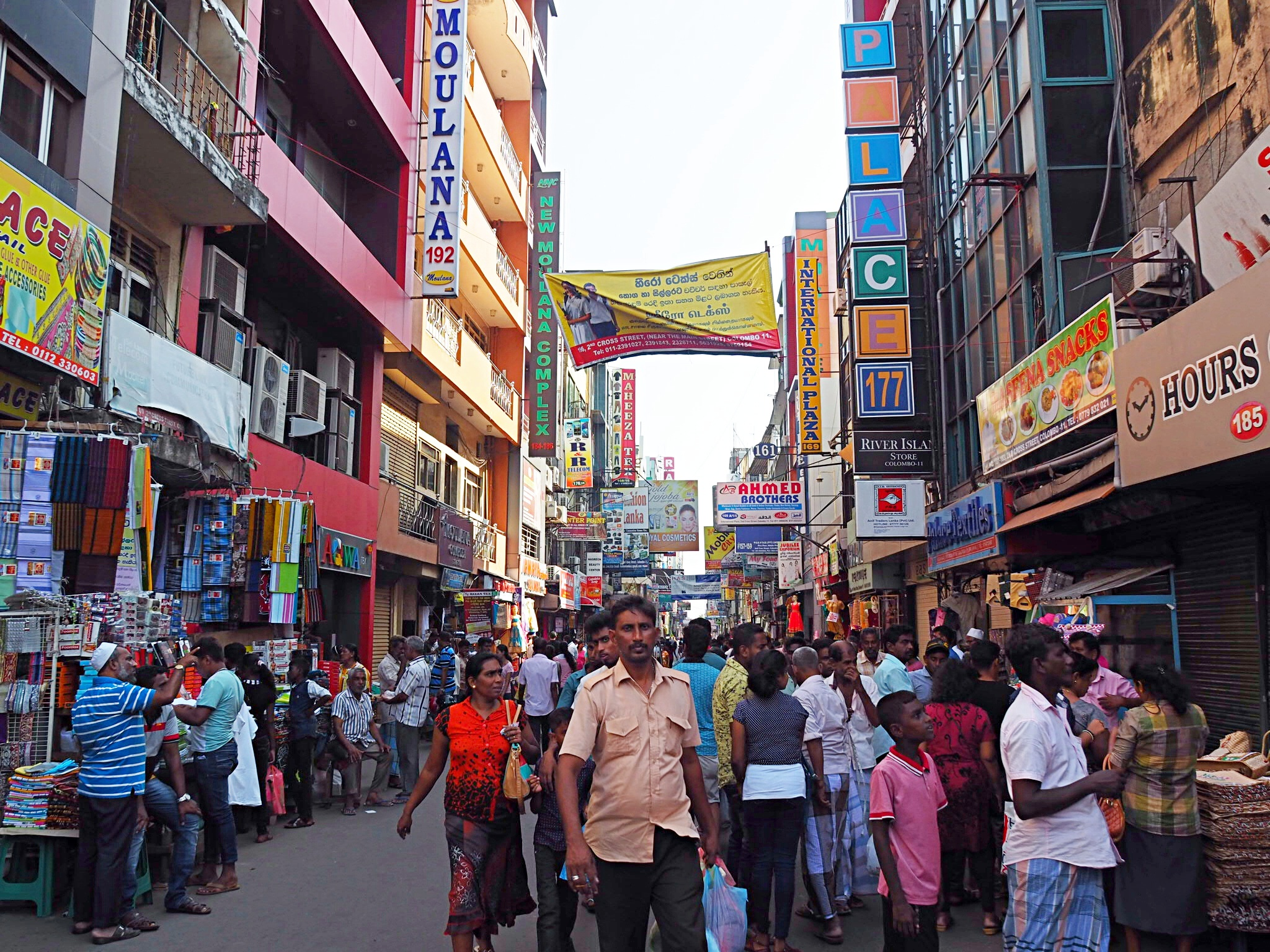 The Pettah area of Fort in Colombo is perhaps a bit too crowded to go running in…