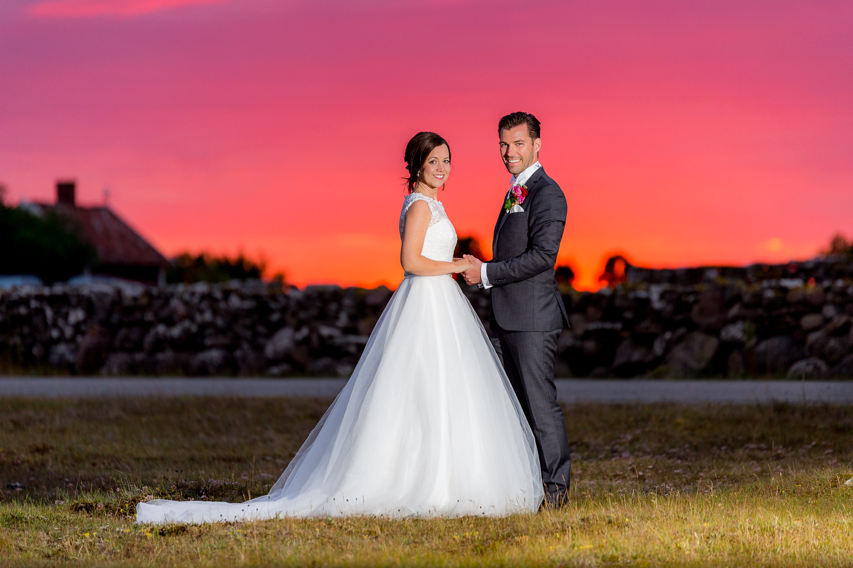 Bröllopsfotograf Öland solnedgång