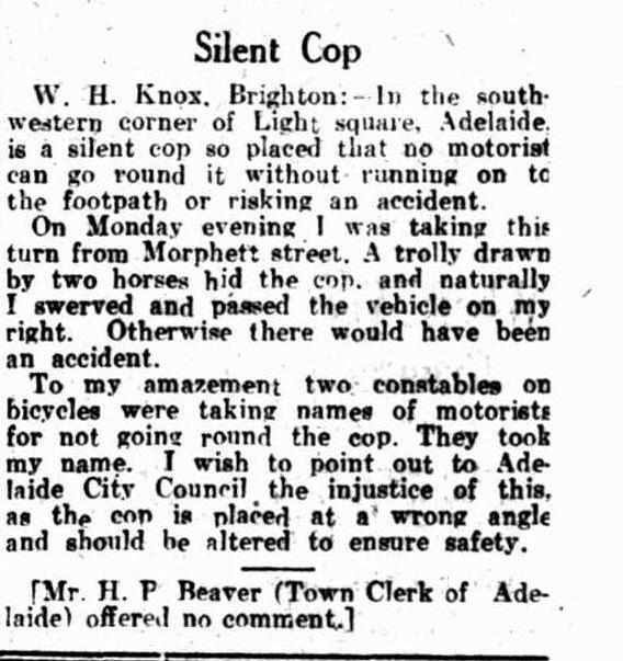 Letter to the editor, 1930